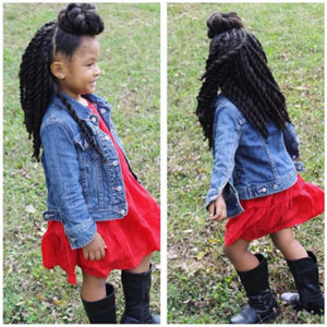 hairstyles for teens top bun with back twists