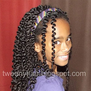hairstyles for teens twist out - Natural Hair Kids