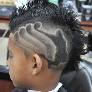 jumpman boys faded haircut design