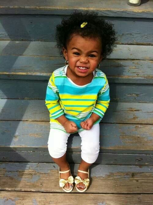 Kids with short natural hair afro