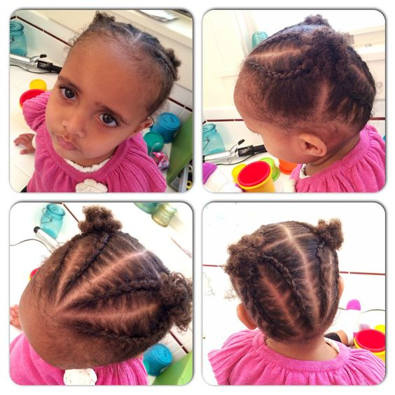 short cornrowed hairstyles for kids with short natural hair