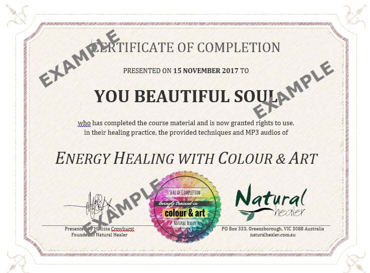 57 Colour Healing Course And Artistic Expression Optional