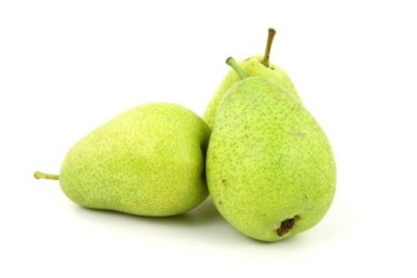 Foods for healthy bladder and kidneys: Image of three pears