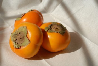 Foods for the intestines: Image of the fruit persimmons.