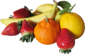 Foods that help get rid of acne: Image of mixed fruits.