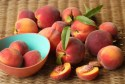 Hear healthy foods list: Image of peaches on a table.