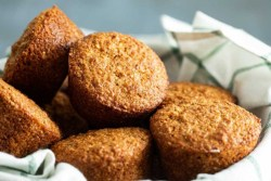 basket of delicious bran muffins