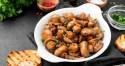 plate of mushroom stew