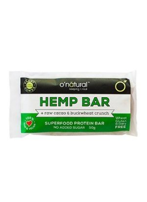 O'Natural Hemp & Raw Cacao Protein Food Bar