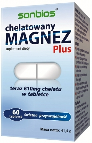 Chelated Magnesium Plus, 60 Tablets,
