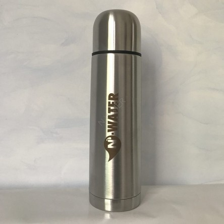 Waterfit bottle stainless steel with double walls, N-Water Live Water technology 500ml