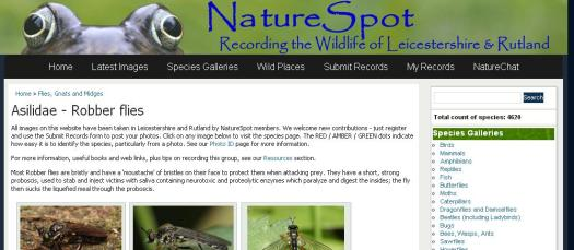 Figure 11. The Naturespot website
