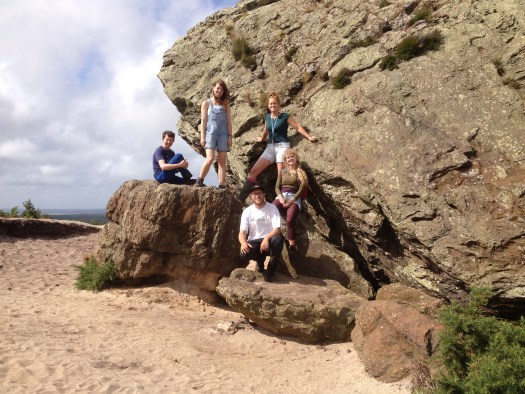 The trainees in the field in Dorset