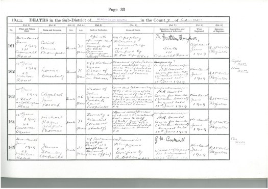 Photo of the facsimile of the page