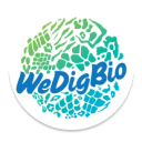 The WeDigBio logo