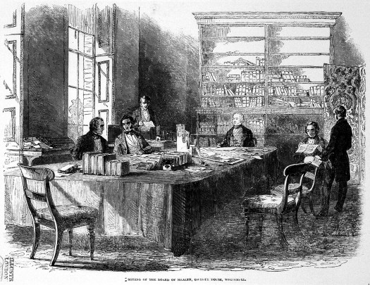 Sitting of General Board of Health, Whitehall, 1846 (Wellcome Image Collection).