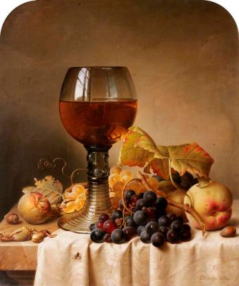 Fruit and a goblet Johann Wilhelm Preyer