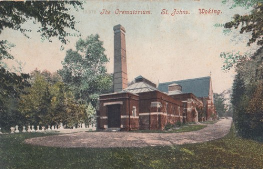Woking Crematorium as shown in an early 20th century post card.