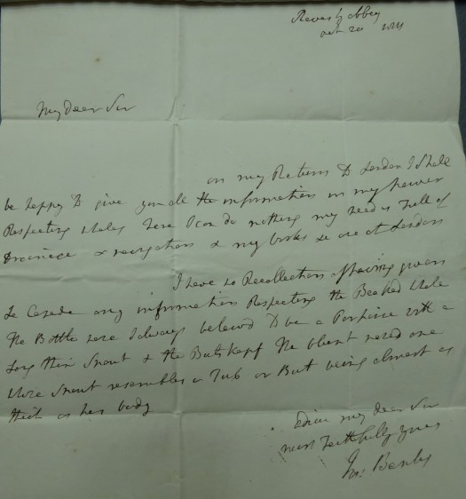 A handwritten letter from Sir Joseph Banks to David Pennant, dated 20 October 1811.