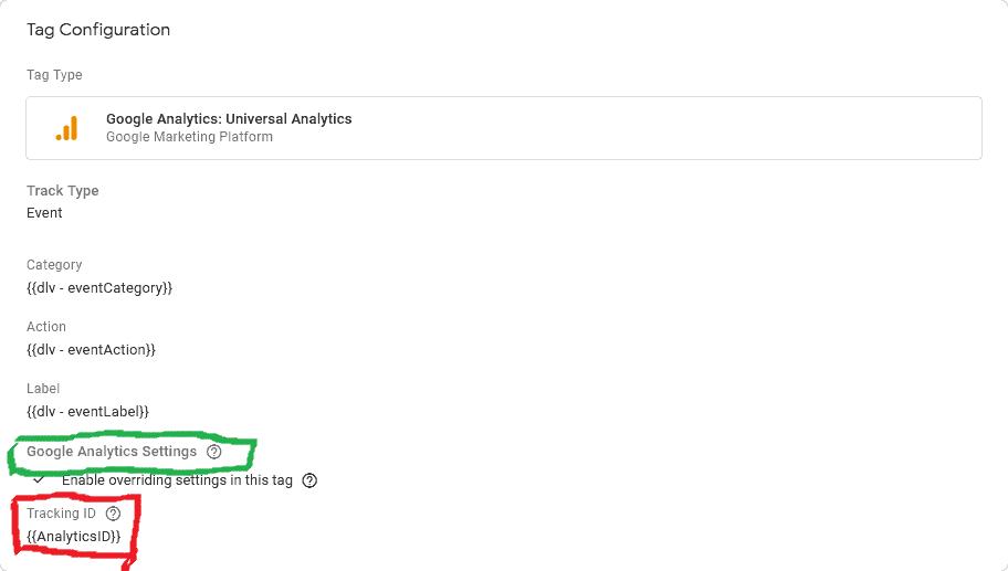 Google Analytics variable field