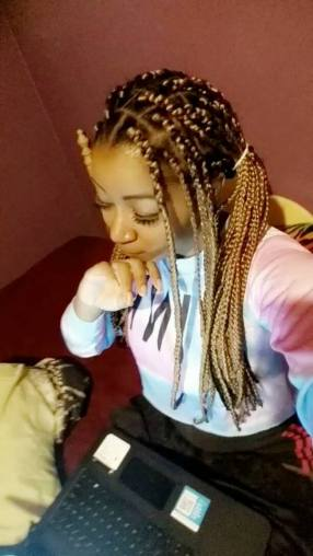 My friend Mya Ahmad rocking box braids