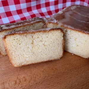 Vegan lemon drizzle cake from Naturally Bread