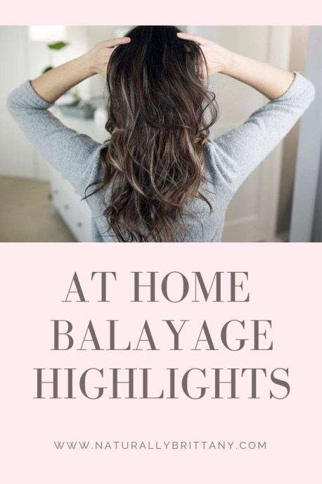 AT HOME Balayage highlights