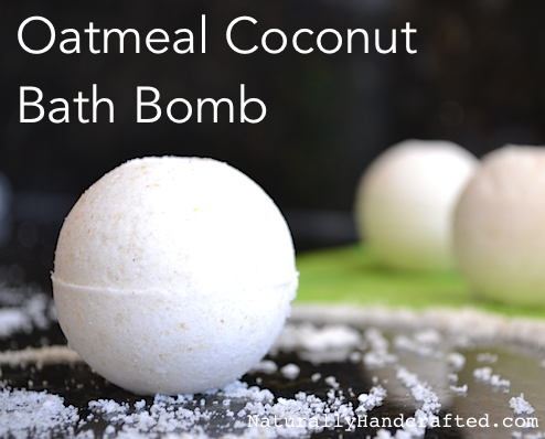 Oatmeal Coconut Bath Bomb