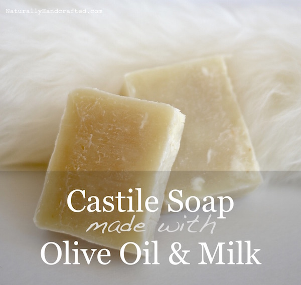 2 homemade castile soap bars