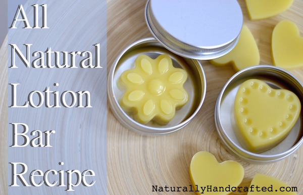 Multiple Lotion Bars Made with All Natural Lotion Bar Recipe