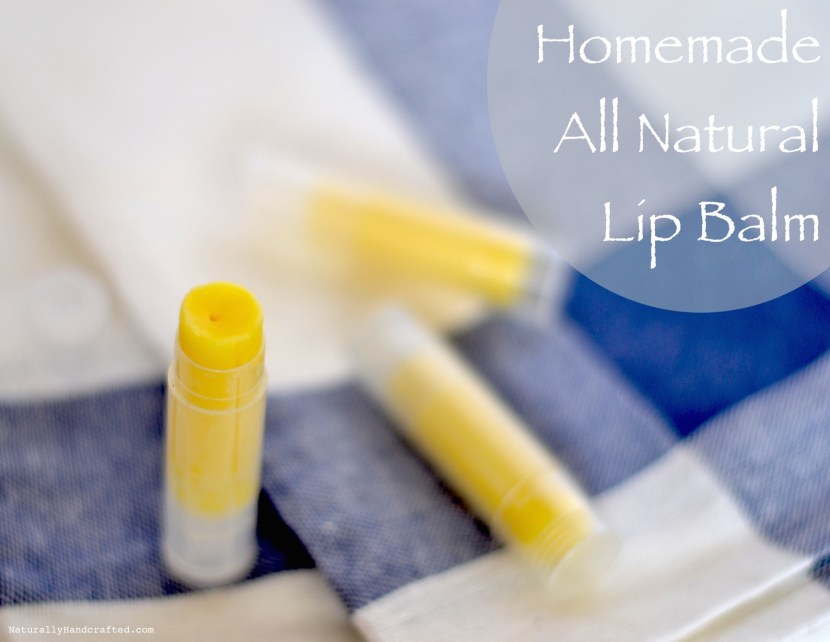 homemade all natural lip balm recipe final product