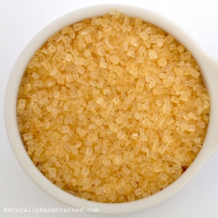 sugar for homemade DIY sugar scrub