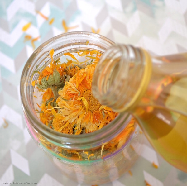 add oil to homemade calendula oil