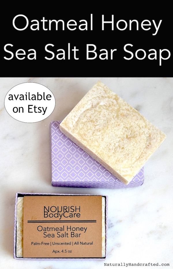 oatmeal honey soap with mediterranean sea salt 2