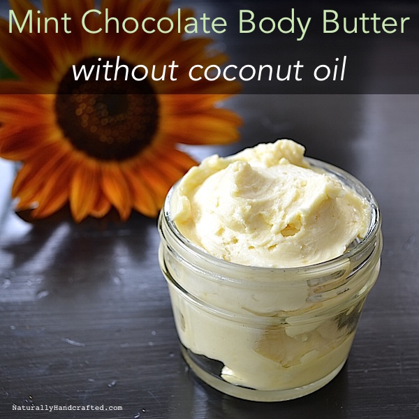 mint chocolate body butter without coconut oil