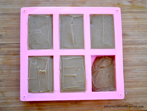 Scoop DIY Shampoo Bar into Mold