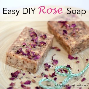 easy diy rose soap