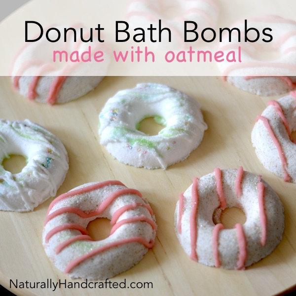 DIY Donut Bath Bombs Made with Oatmeal