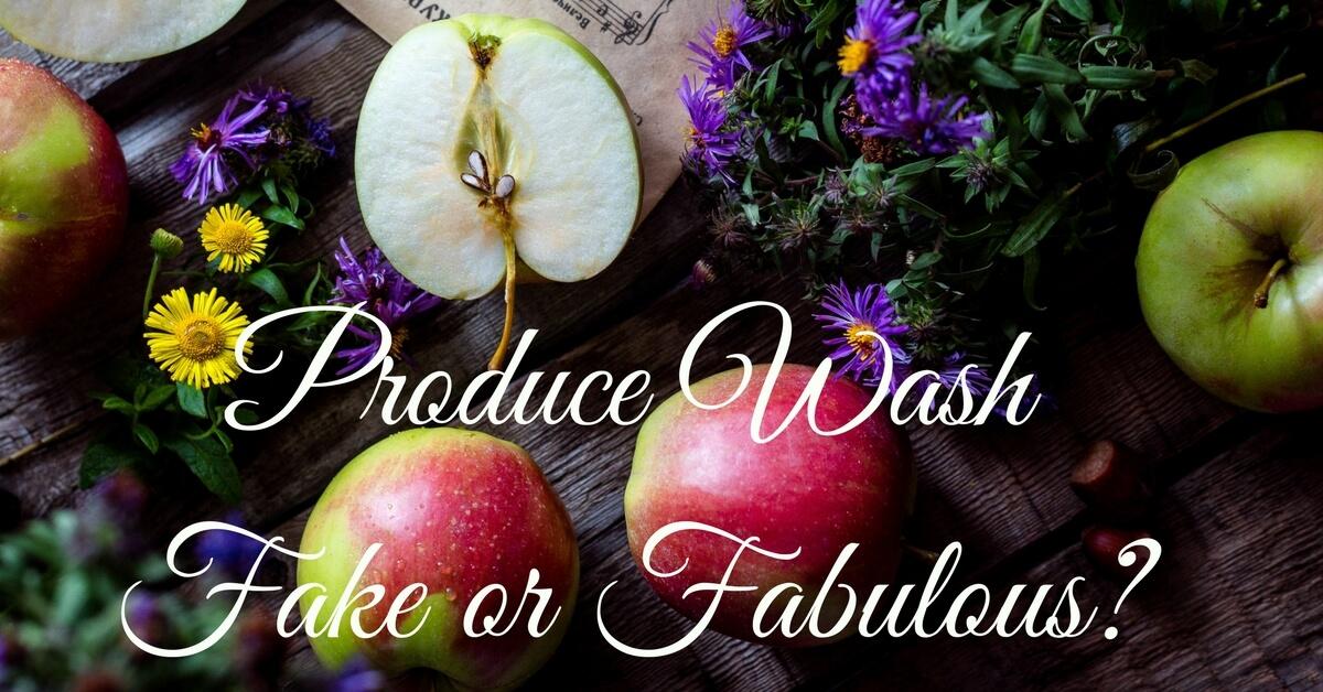 Produce Wash-Fake or Fabulous?