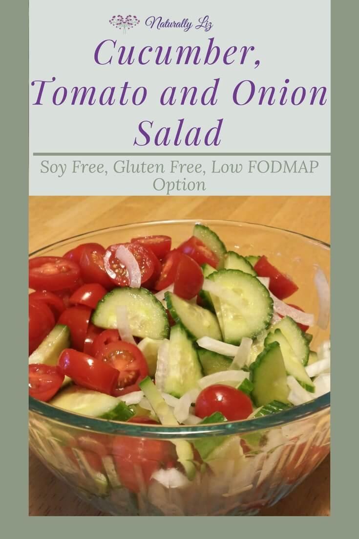 Cucumber, Tomato and Onion Salad-Naturallyliz.com