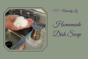 Foaming Homemade Dish Soap soy free