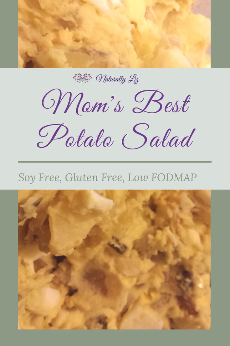 Potatoes, pickles, mayo and mustard all combined to make the easiest Best Potato Salad!  Soy Free, Gluten Free, and low FODMAP