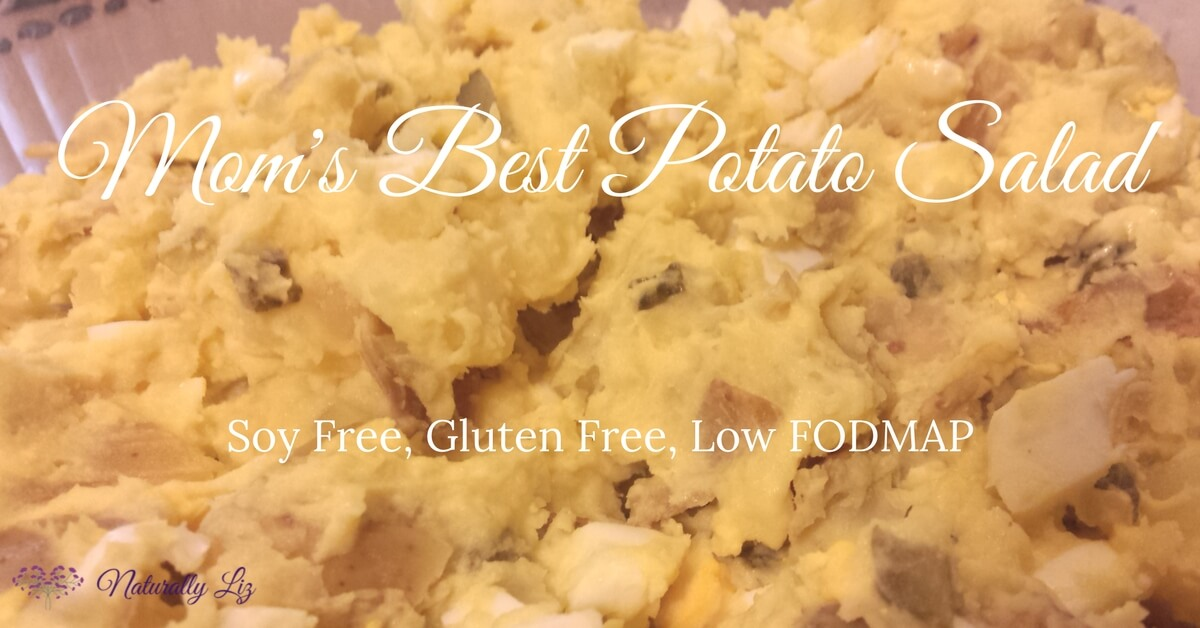 Best Potato Salad, Soy Free, Gluten Free, Low FODMAP