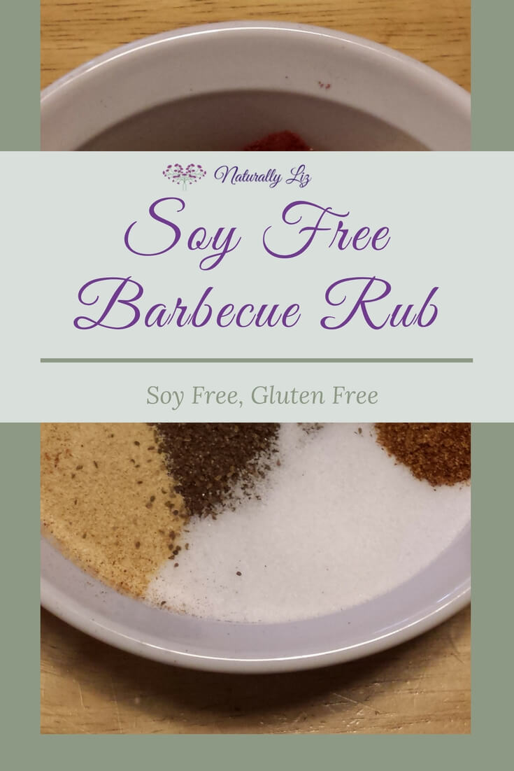 This Soy Free Barbecue rub is fantastic on burgers, chicken, pork, steak, pretty much everything! Soy free and gluten free. Yum, Yum, Yum!