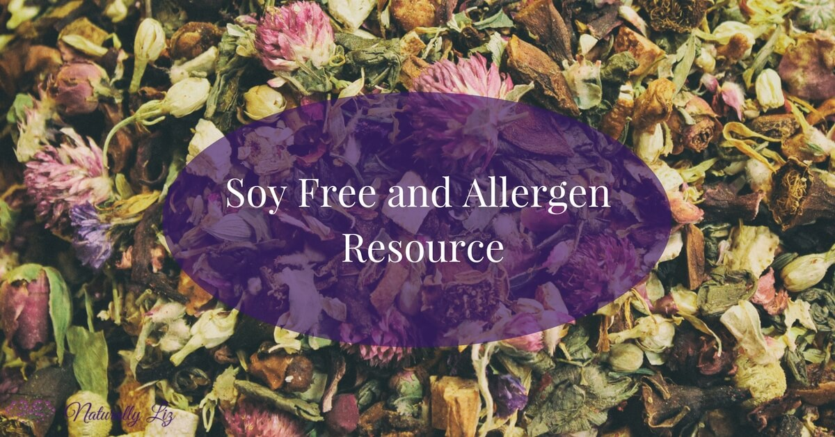 Soy free and Allergen Resource for living more naturally-naturallyliz