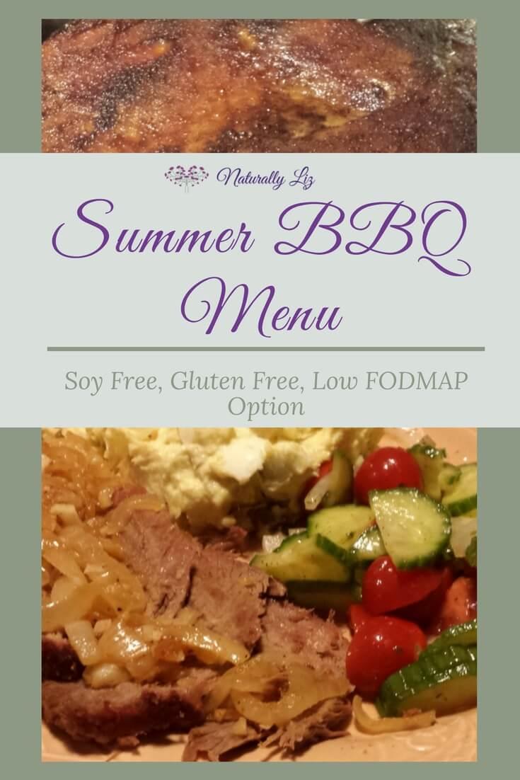 Summer BBQ Menu Soy Free, Gluten Free~Naturallyliz.com