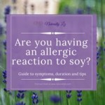 Are you having an allergic reaction to soy?