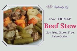 Low FODMAP Beef Stew (Soy Free, Gluten Free, Dairy Free, Paleo Option)