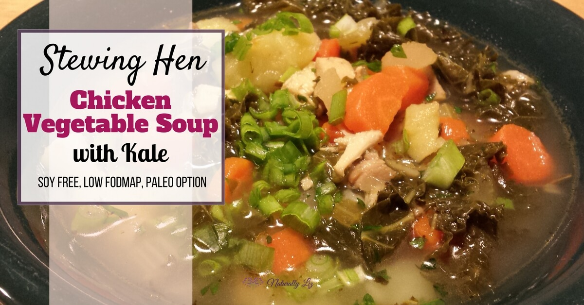 Stewing Hen Chicken Vegetable Soup with Kale-Yum!