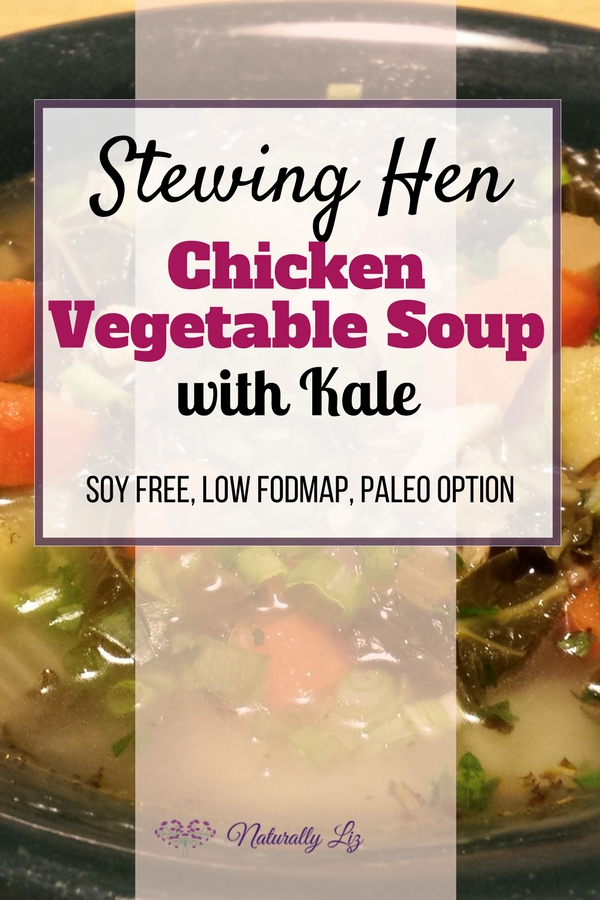 Stewing Hen Chicken Vegetable Soup with Kale
